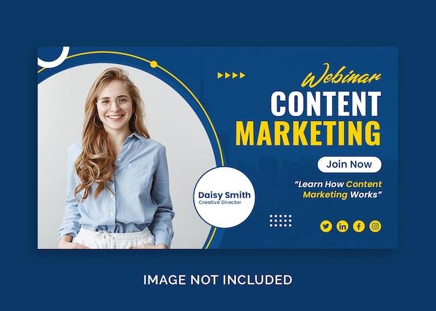 Webinar aziendale per il marketing miniatura di youtube o modello di banner web