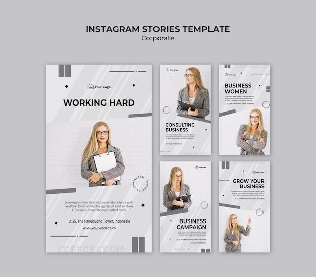 Modello di storie di instagram di design aziendale