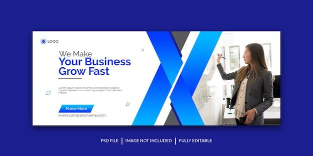 Modello di copertina dei social media per la promozione del marketing aziendale e digitale