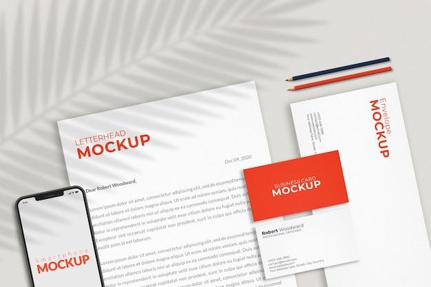 Design mockup del marchio di identità aziendale
