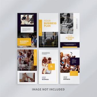 Modello di storie instagram aziendali