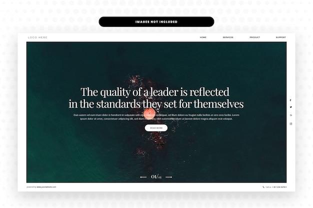 Pagina di destinazione aziendale, banner hero, modello web, web design