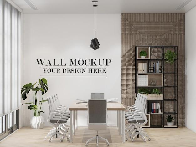 Mockup della parete della sala riunioni aziendale