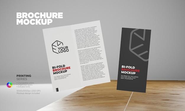 Brochure aziendale moderna bifold mockup