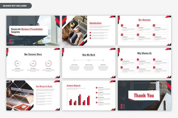 Modello di presentazione aziendale moderna aziendale