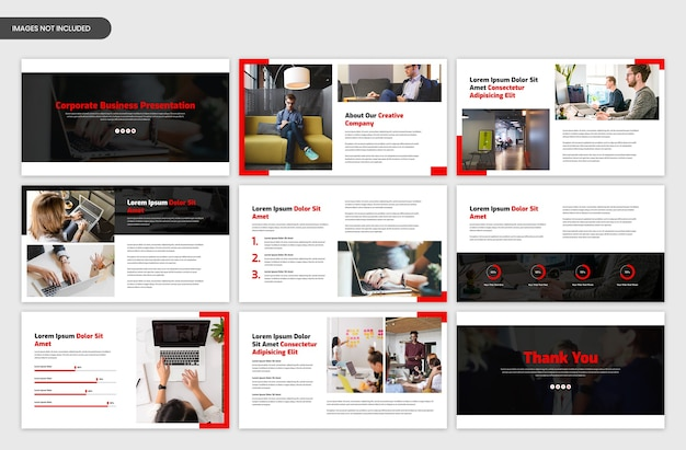 Modello di cursore di presentazione aziendale