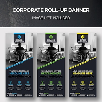 Banner aziendale roll-up