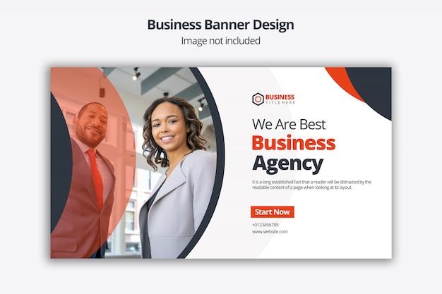 Design del dispositivo di scorrimento aziendale con modello di invito all'azione per il sito web