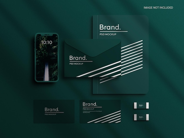 Creatore di scene di mockup di identità di marca di cancelleria aziendale identità di marchio aziendale realistica