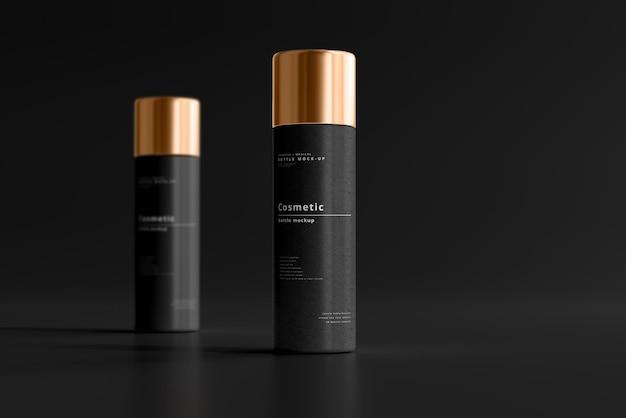Mockup di bottiglia cosmetica