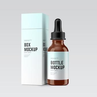 Mockup di bottiglie cosmetiche