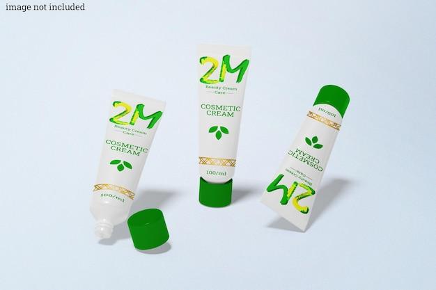 Mockup di flaconi cosmetici