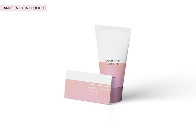 Mockup di branding cosmetico vista sinistra
