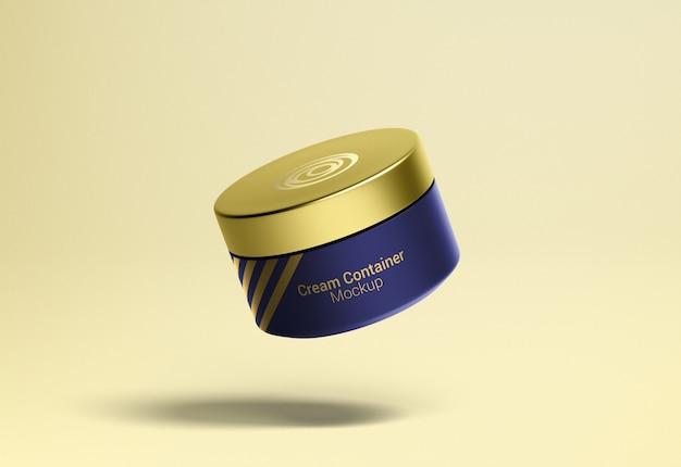 Mockup di confezionamento contenitore crema cosmetica