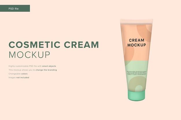 Mockup di crema cosmetica in stile design moderno