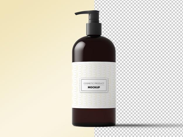 Mockup di dispenser cosmetico isolato