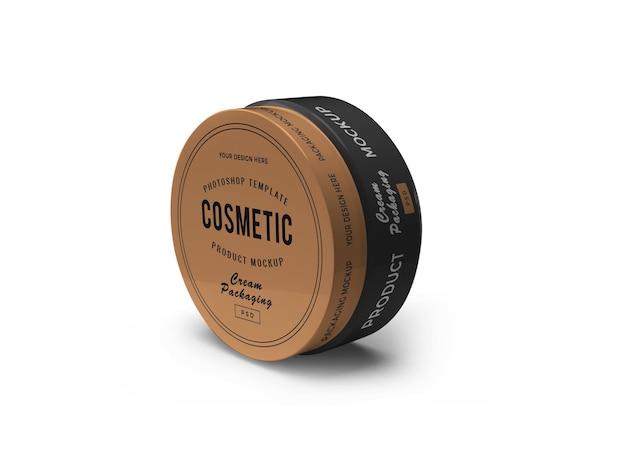 Vaso cosmetico 3d mockup design isolato