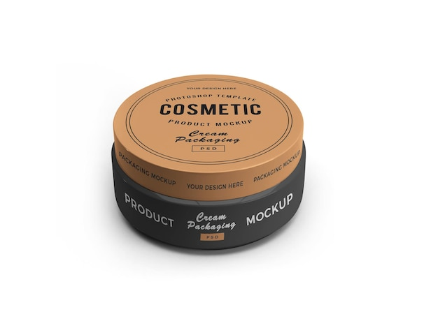 Mockup 3d del barattolo cosmetico
