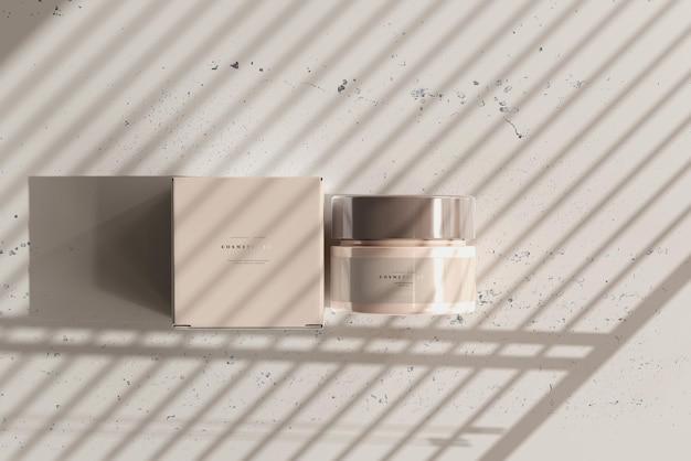 Vaso cosmetico e scatola mockup