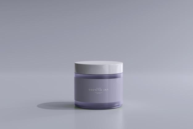 Mockup di barattolo cosmetico