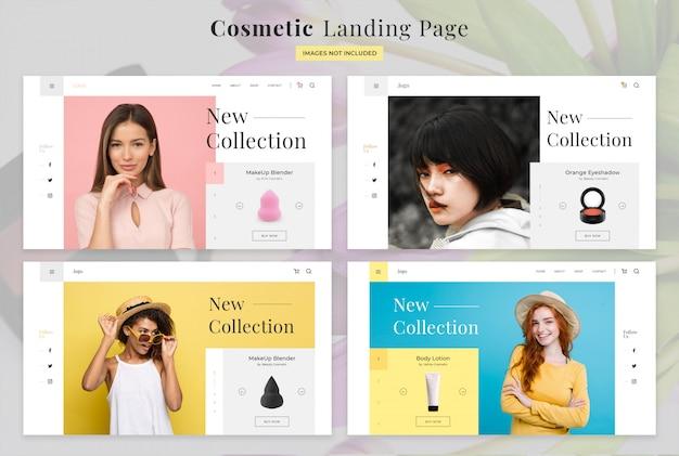 Pagina di destinazione cosmetica