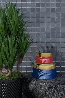 Mockup di design del pacchetto cosmetico. packaging per il design del marchio