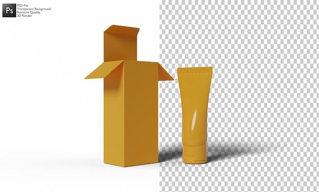 Progettazione 3d dell'illustrazione del packaging cosmetico