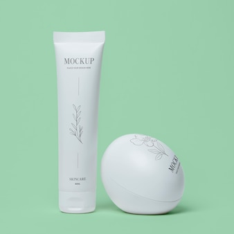 Composizione di mock-up di packaging cosmetico