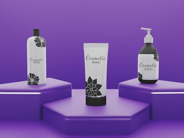 Mockup di confezione di prodotti cosmetici