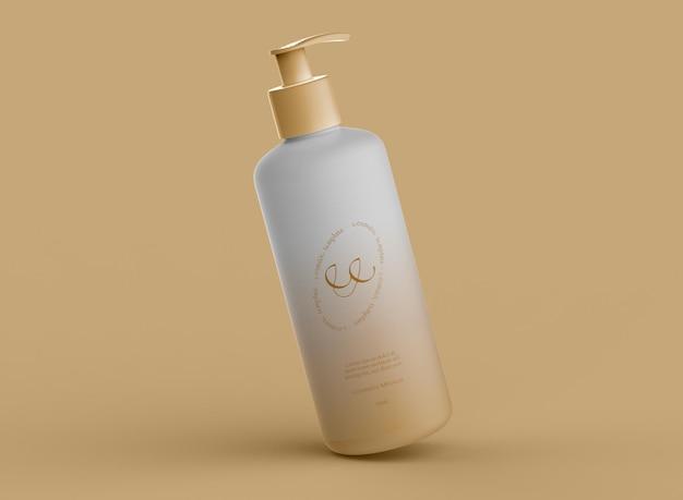 Mockup di bottiglia per pompa cosmetica