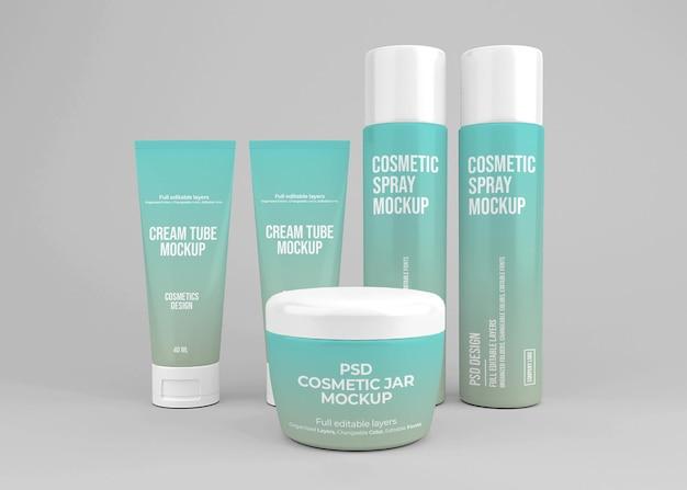 Set di cosmetici mockup design
