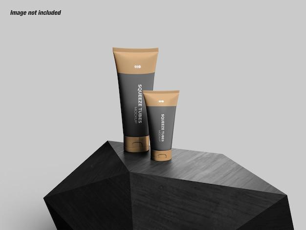 Set di cosmetici squeeze tubes mockup