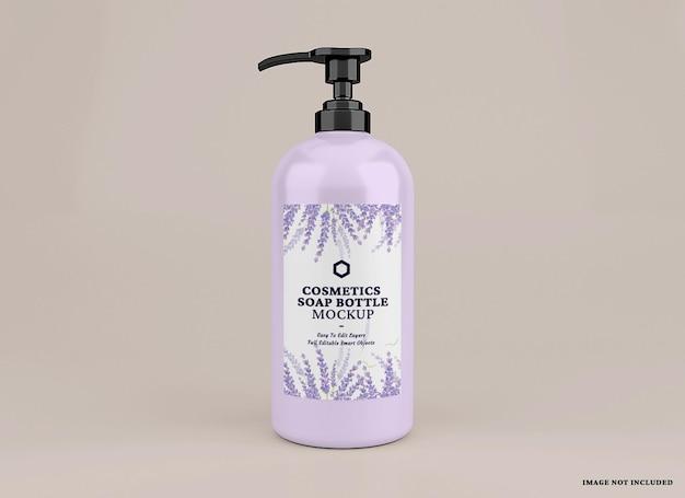 Mockup di bottiglia di sapone cosmetico