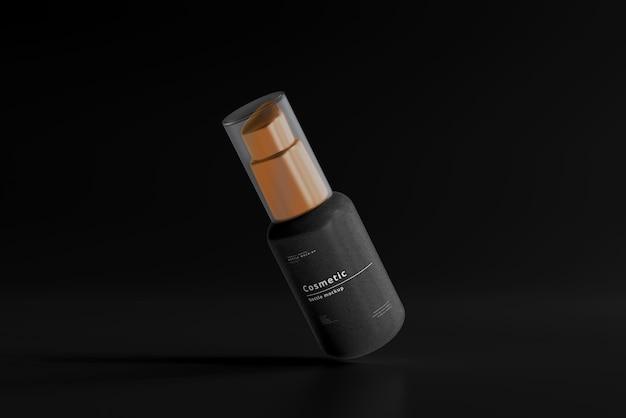 Mockup di flacone spray cosmetico