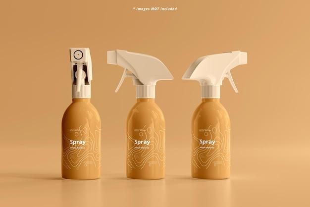 Mockup di flaconi spray cosmetici
