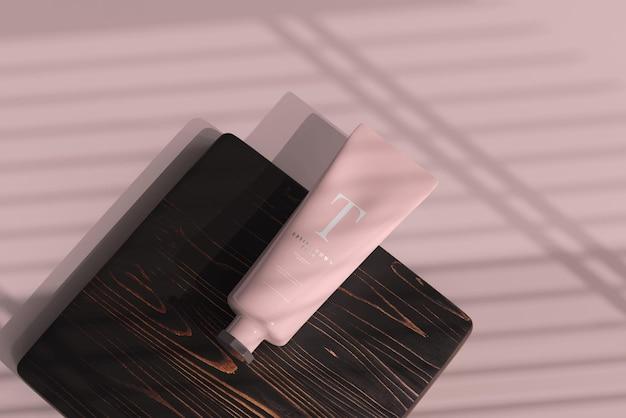 Mockup di tubo cosmetico