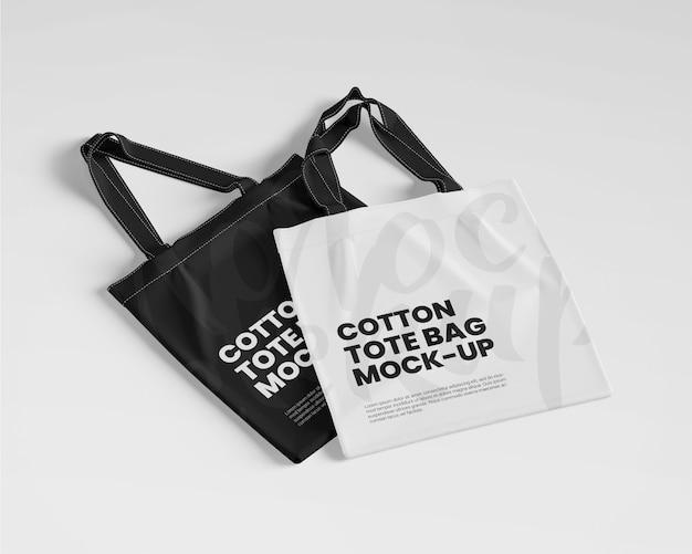 Mockup di borse in cotone