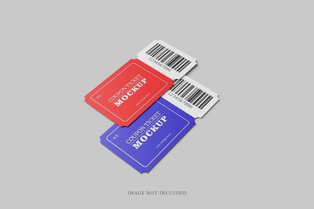 Modello di biglietto coupon