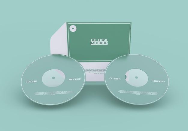 Cover e mockup di compact disc semplici