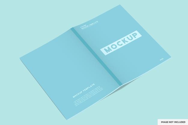 Copertina di una rivista mockup con vista prospettica