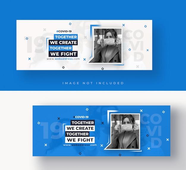 Covid-19 copertina di facebook o modello di banner web