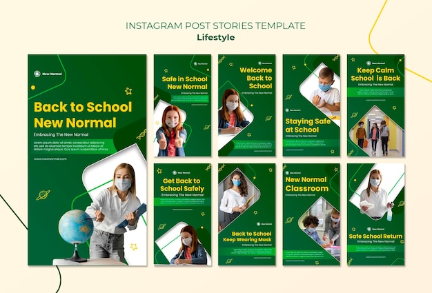 Covid lifestyle instagram story design template