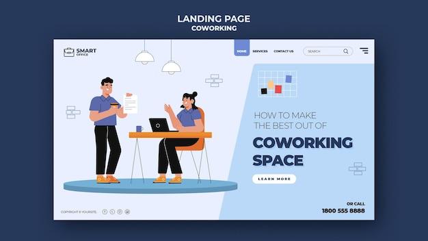 Pagina di destinazione dello spazio di coworking