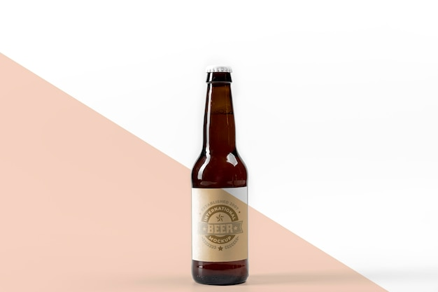 Mock-up di concetto di birra artigianale