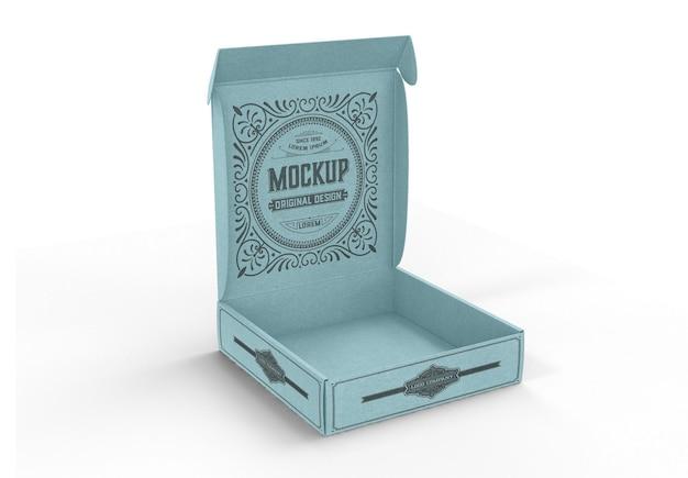 Mockup di scatola artigianale