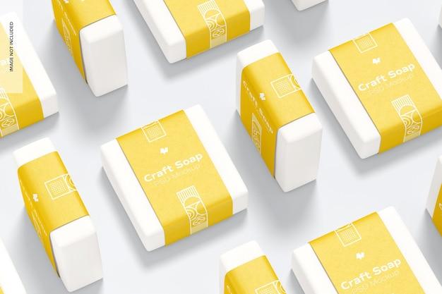 Sapone artigianale con set di etichette mockup