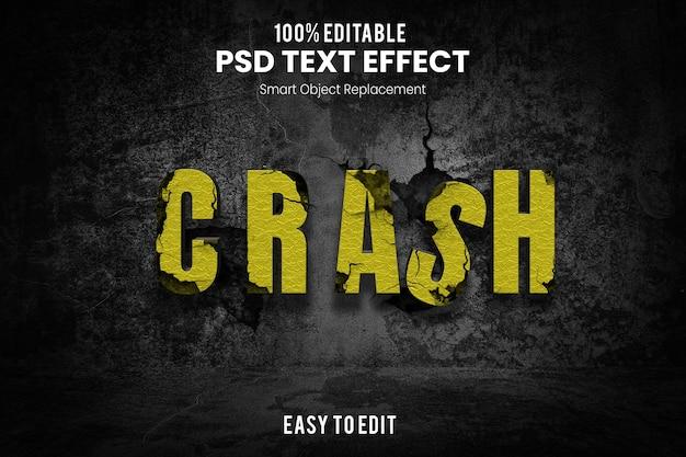 Effetto testo crash