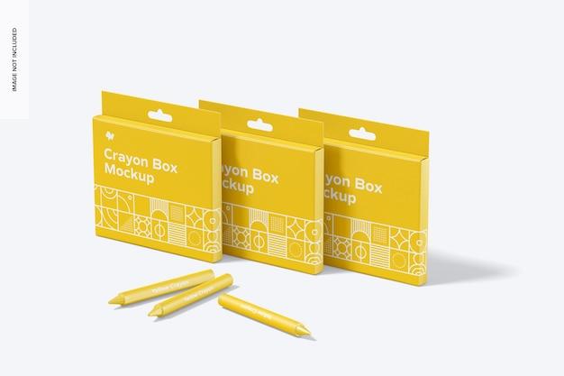 Crayon box set mockup