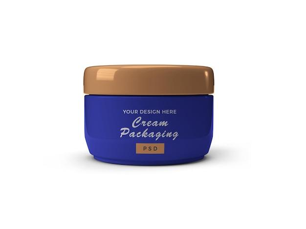 Crema cosmetica jar 3d mockup design isolato