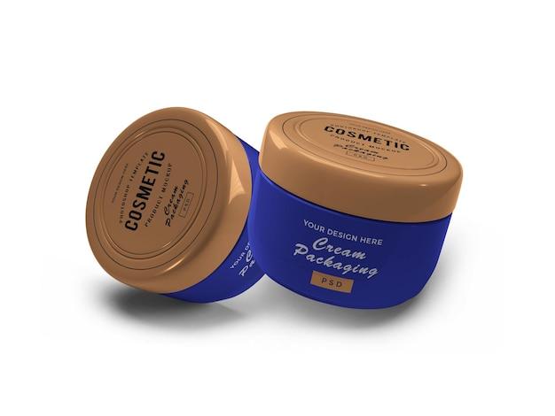 Vaso cosmetico crema 3d mockup